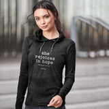 grace & truth® Adult Hooded T-Shirt - She Rejoices