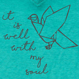 It Is Well With My Soul Women's V-Neck T-Shirt ™