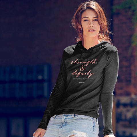 Grace & Truth Strength and Dignity Hooded T-shirt ™