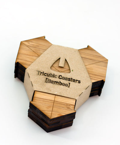 Tricubic coaster [bamboo]