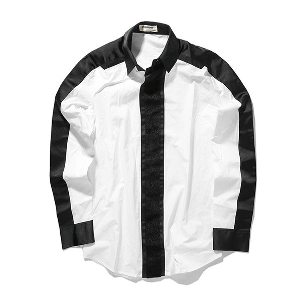 New Casual Black & White Shirt