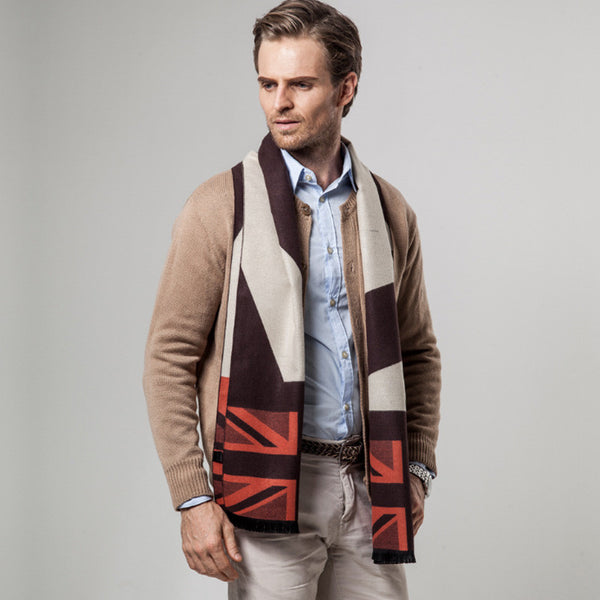 Dark Brown British Scarf