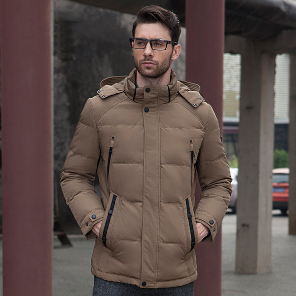 Urban Fashion Parka In Khaki
