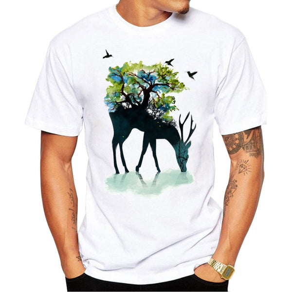 Printed Deer T-Shirt