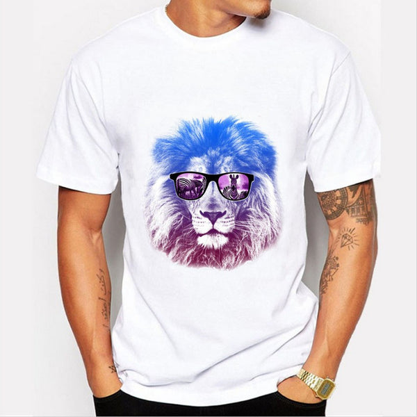 Printed Hipster Lion T-Shirt