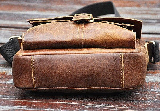 Vintage Leather Flight Bag