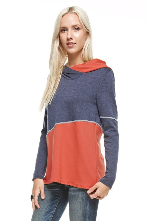 Asymmetrical French Terry Hoodie