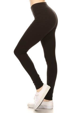 Basic Cotton Spandex Leggings