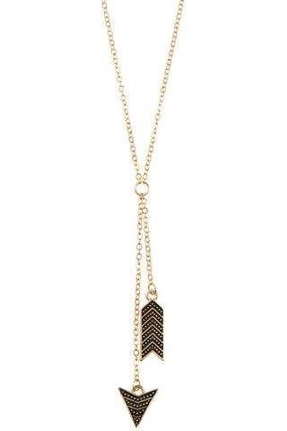 Arrow Dangle Pendant Necklace