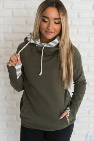 Evergreen Stripe DoubleHood™ Sweatshirt