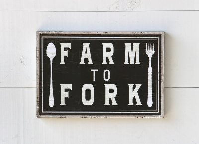 Farm to Fork Box Sign