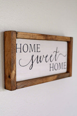 Antiqued Wooden Home Sweet Home Sign