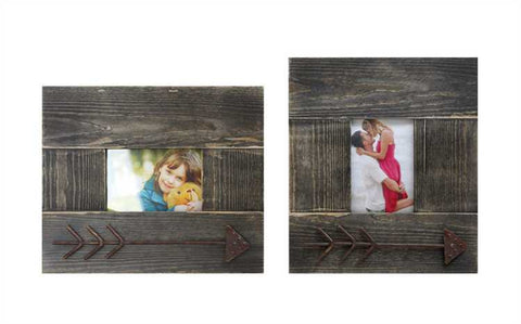 Photo Frame with Metal Arrow