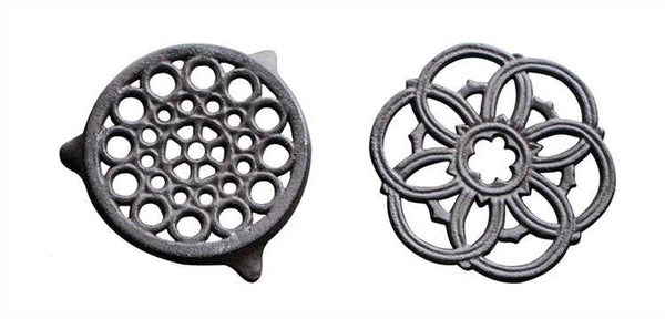 Round Cast Iron Trivets ~ Set of Two
