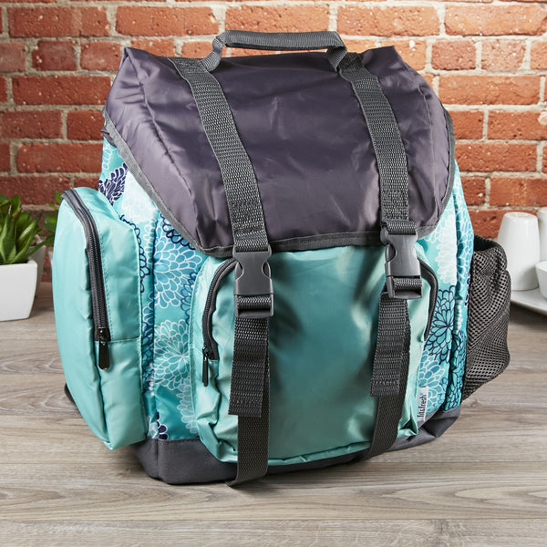 Kids' Adventure Rucksack Backpack - Aqua Spring Floral