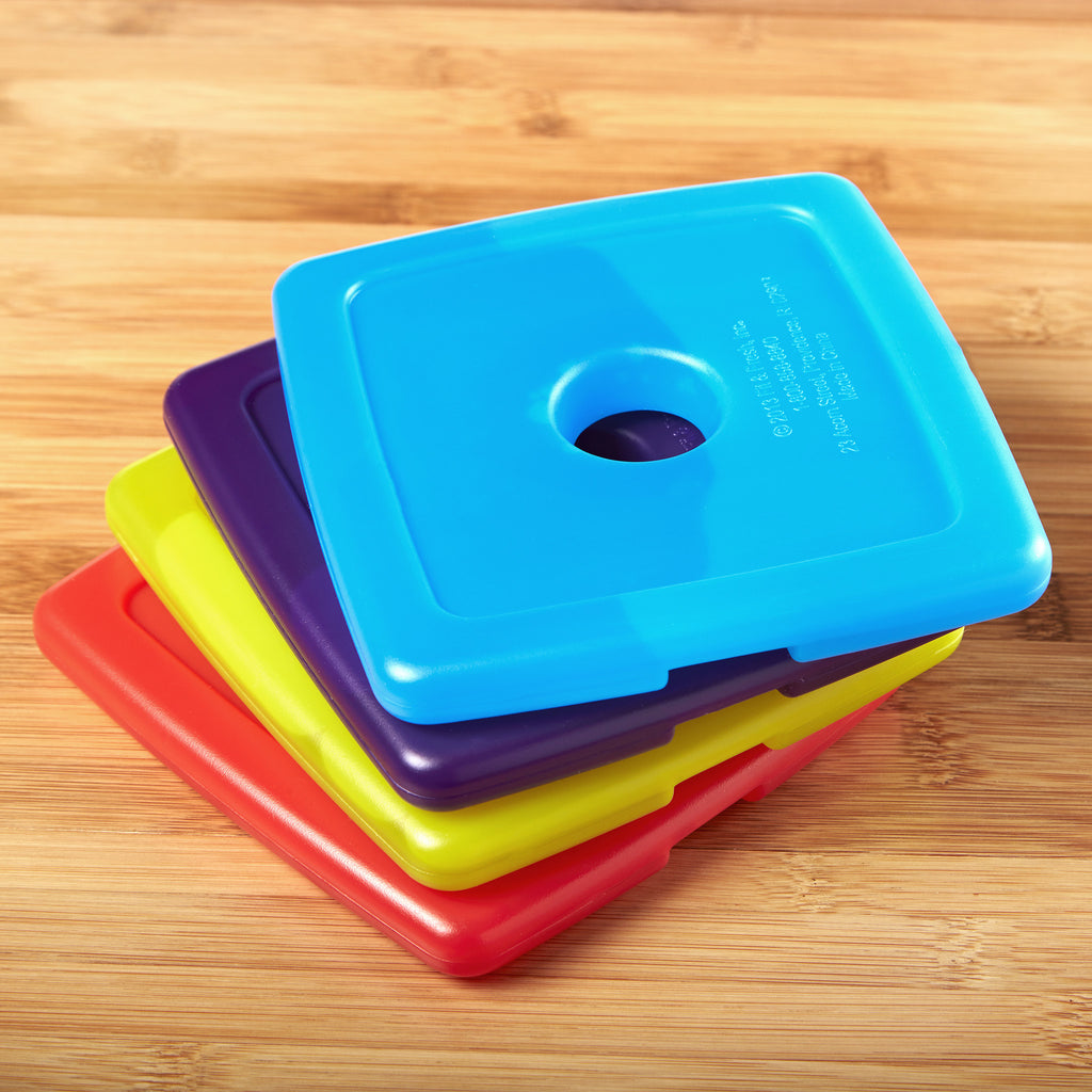 Cool Coolers Slim Lunch Ice Packs, Multicolored