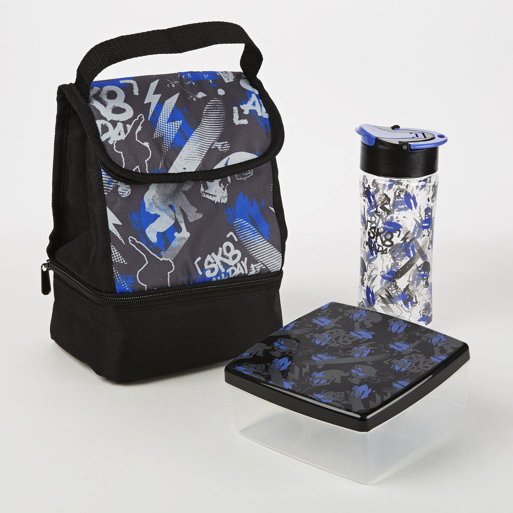 Austin Insulated Bag Kit with Lunch Pod and Tritan Water Bottle (Sk8 All Day)