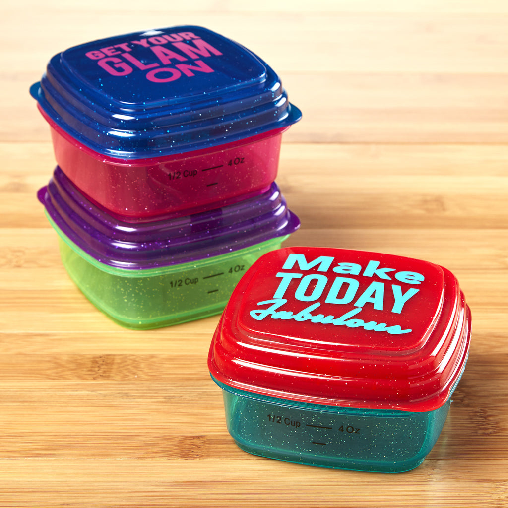 Stak Pak Half Cup Glitter Containers