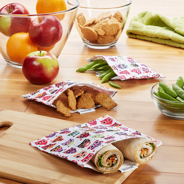 Reusable Sandwich & Snack Bags (Set of 3)