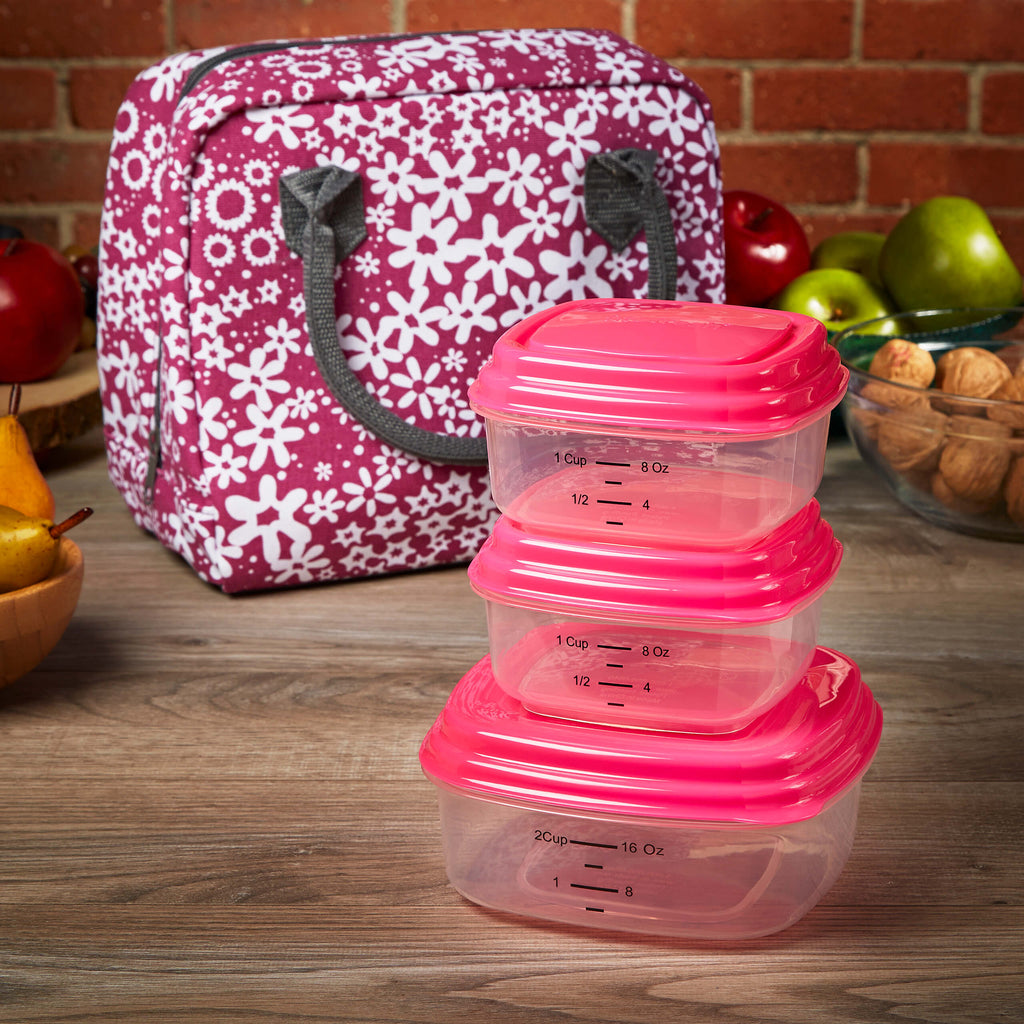Bloomington Insulated Lunch Bag Set with Reusable Containers