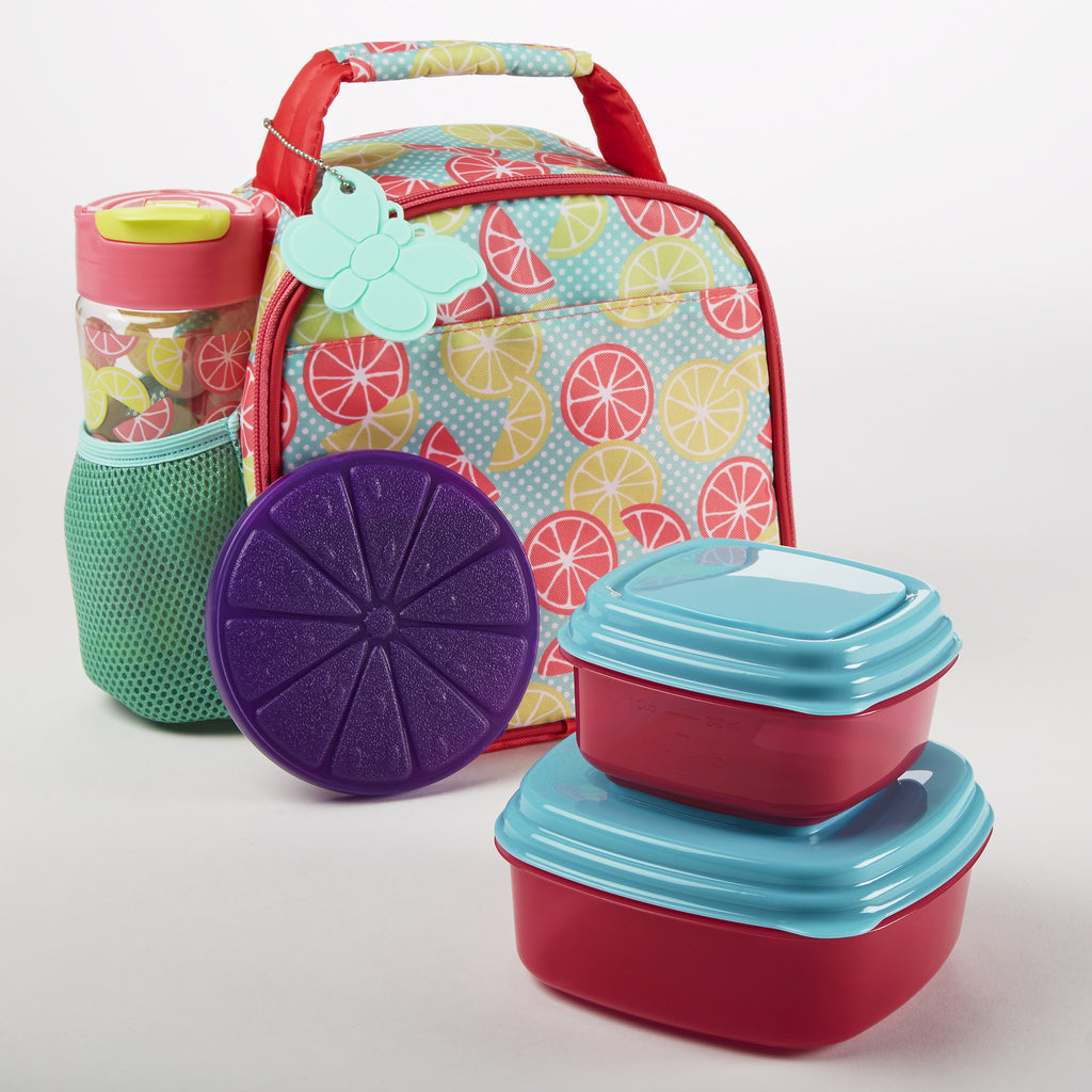Lillie Kids' Insulated Lunch Bag Set with Reusable Container Set & Matching Water Bottle
