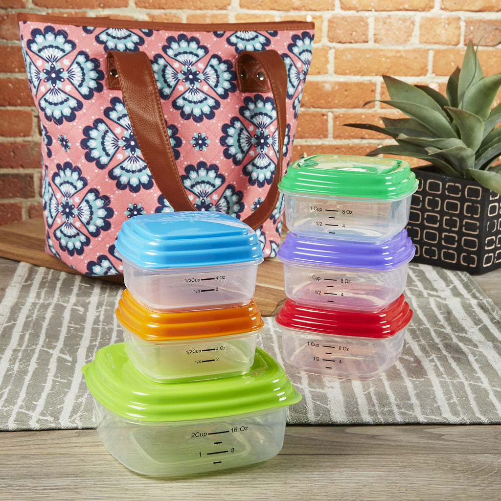 Greenville Meal Management Bag Starter Kit with 6 Stackable Portion Control Containers