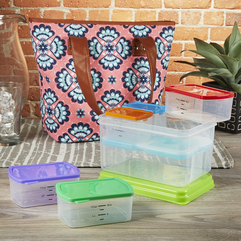 Greenville Meal Prep Bag Starter Kit with 6 Nesting Portion Control Containers