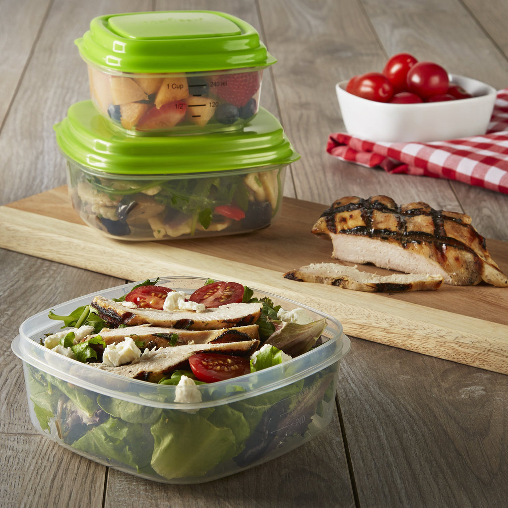 Fresh Selects Sandwich & Side Lunch Containers (set of 3)