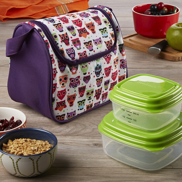 Morgan Kids' Insulated Lunch Bag with Sandwich & Side Container Set