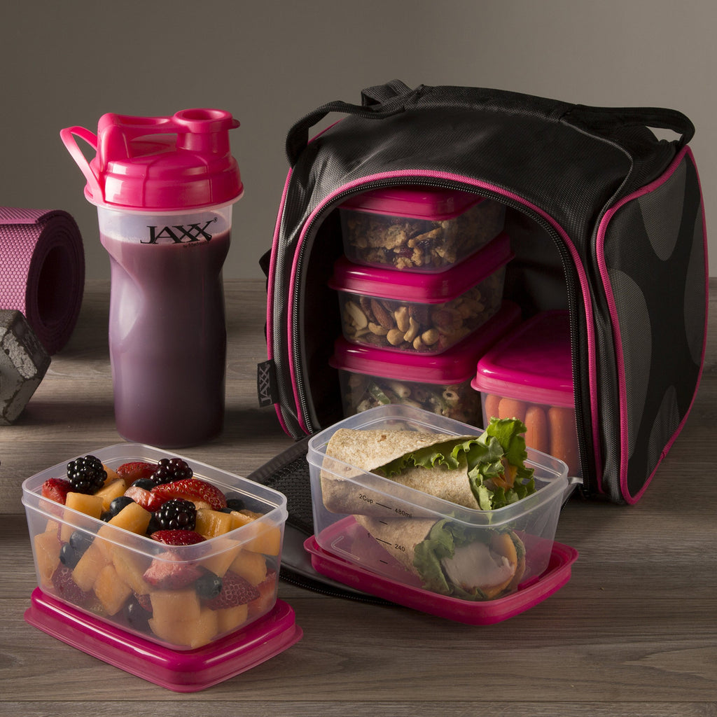Jaxx FitPak with Portion Control Container Set (Pink)