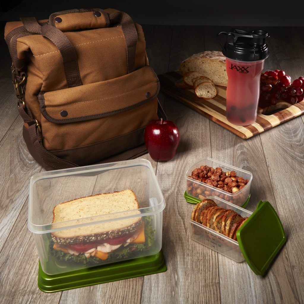 Douglas Insulated Lunch Bag with Lunch on the Go Set & Jaxx Shaker