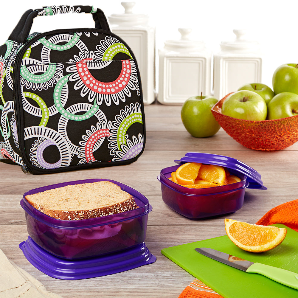 Gabby Kids' Lunch Bag Kit with Sandwich & Side Container Set