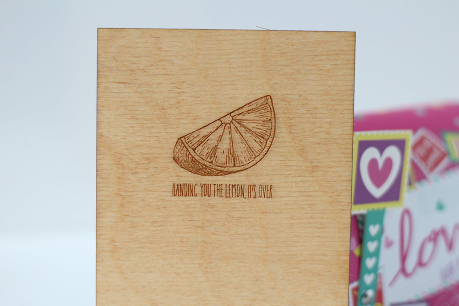 Break Up Card - It's over greeting card - our relation ship has ended wooden greeting card