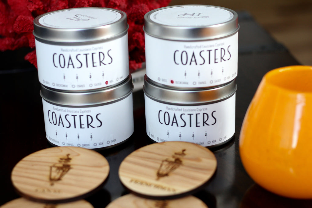 Wood Coasters - Compass - Harley London