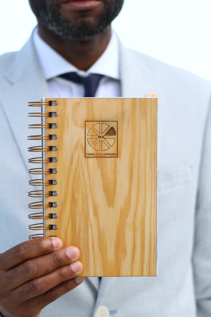 Custom Cypress Wood Journal | Corporate Notebook Journal | Made in New Orleans, LA