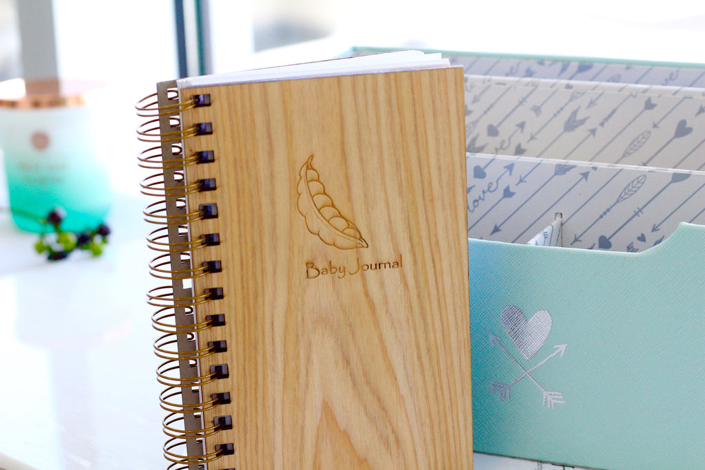 Wooden Baby Journal by Harley London | Baby Planner