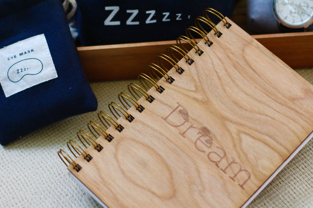 Engraved Wooden Dream Journal Diary | Wooden Spiral Journal
