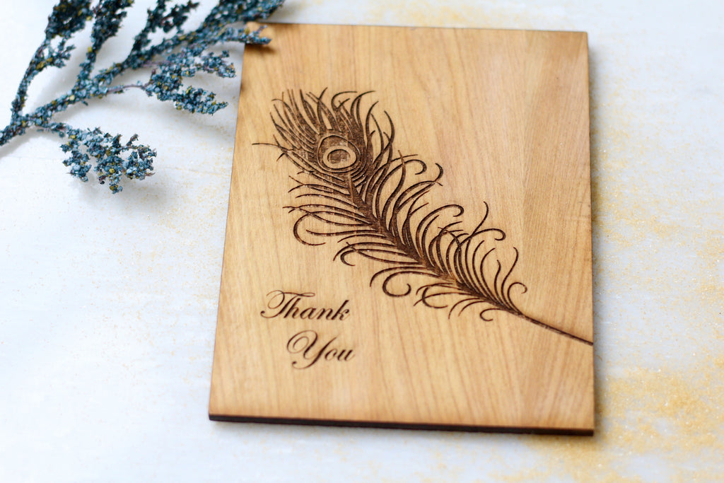 Wooden thank you Greeting Card made in New Orleans - Thank You Greeting Card