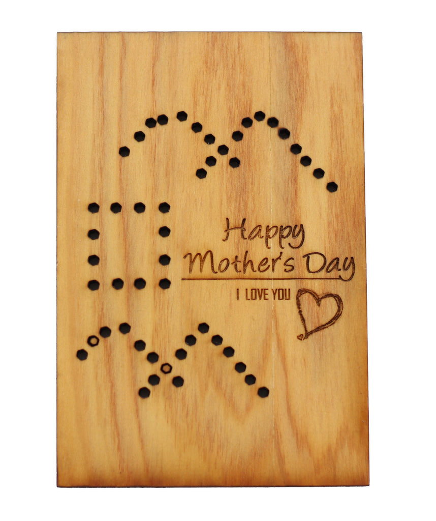 Wood Greeting Card - Mother's Day - Harley London