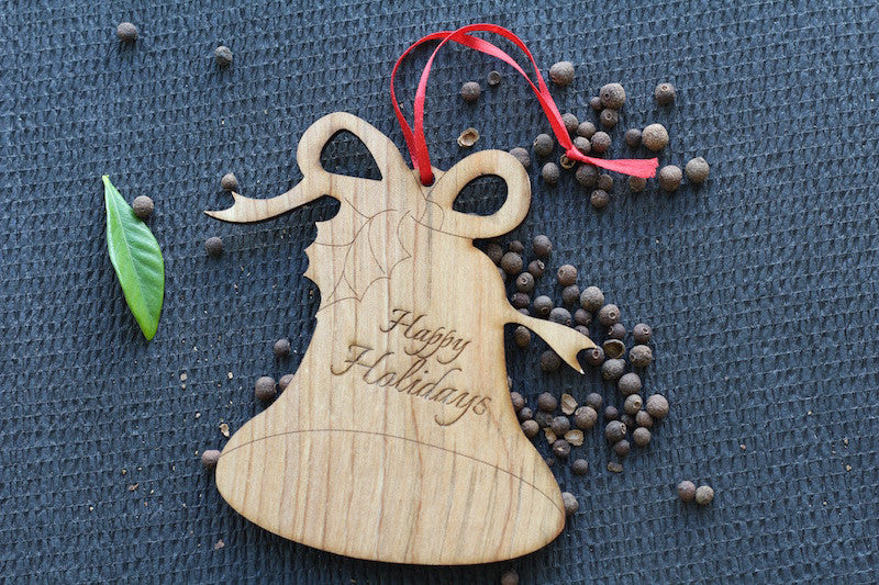 Wooden New Orleans Holiday Ornaments - Wood Christmas Tree Ornaments