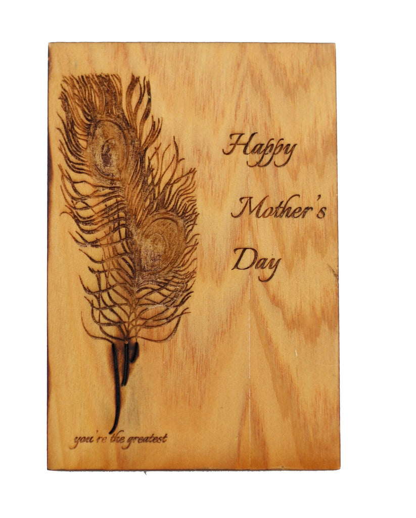 Wood Greeting Card - Mom's Day - Harley London