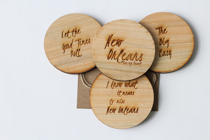 Wood Coasters - Quotes - Harley London