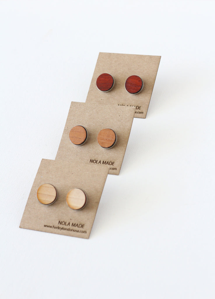 Padauk, Spanish Cedar and Maple Wood Cufflinks