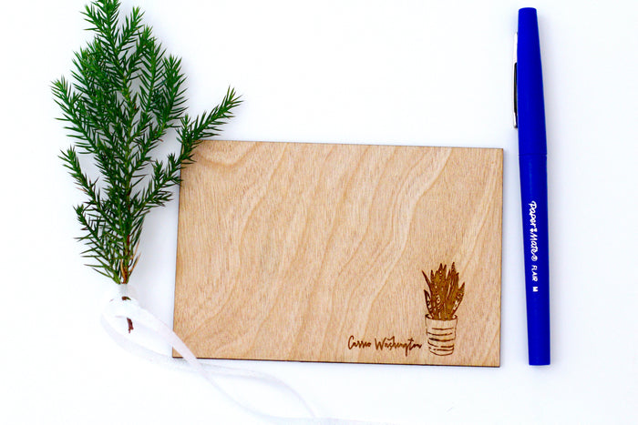 Custom Personalized Wood Stationery
