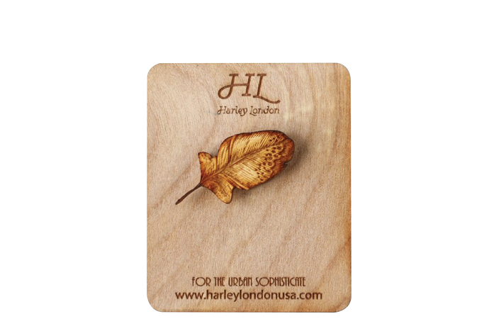 Wooden Contour Feather Hat Pin - Made in New Orleans, LA by Harley London