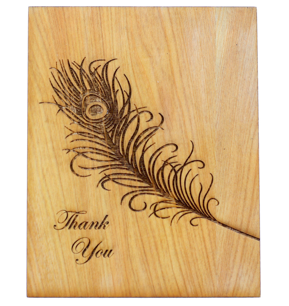 Wood thank you Greeting Card - Thank You - Harley London