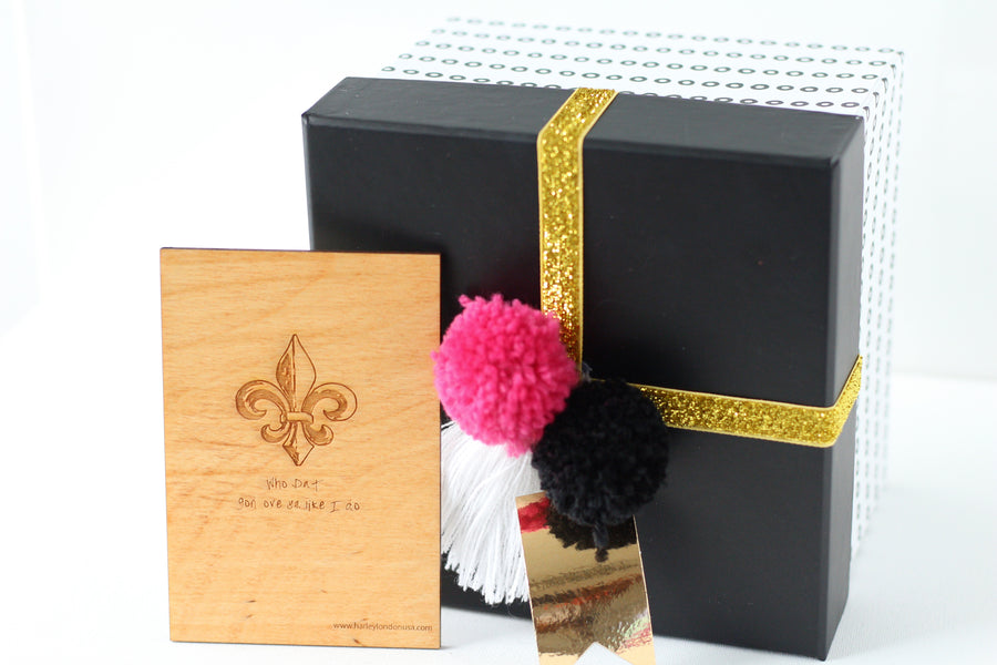 Wood Greeting Card - Who Dat Gon Love You Like I Do - Harley London