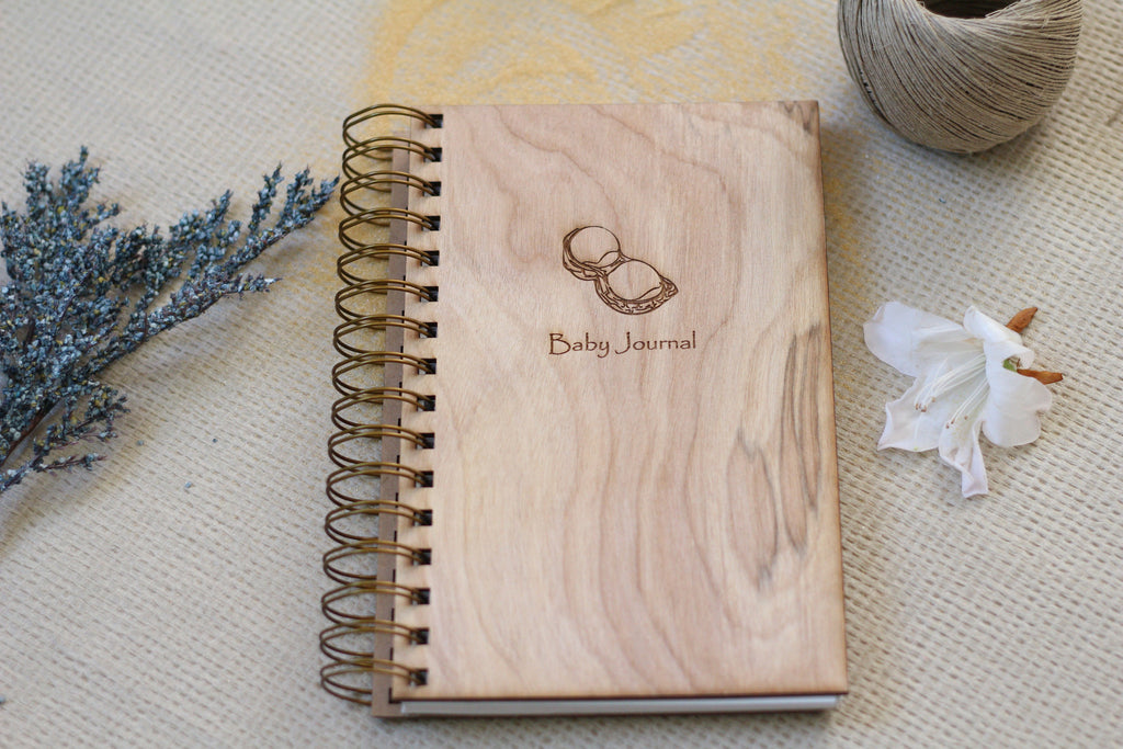 Wooden Peanut Baby Journal by Harley London