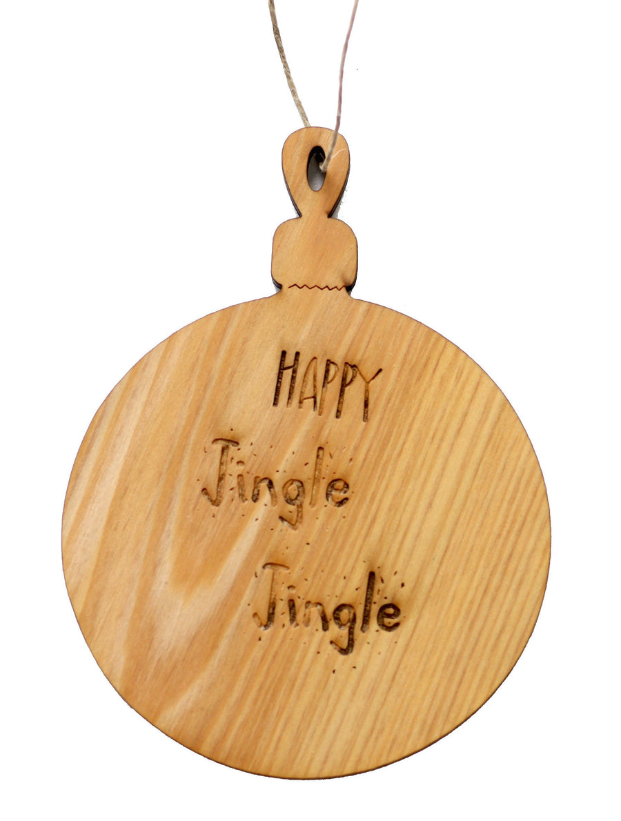 Wooden Holiday Ornaments - Wood Christmas Tree Ornaments - Holiday Decoration