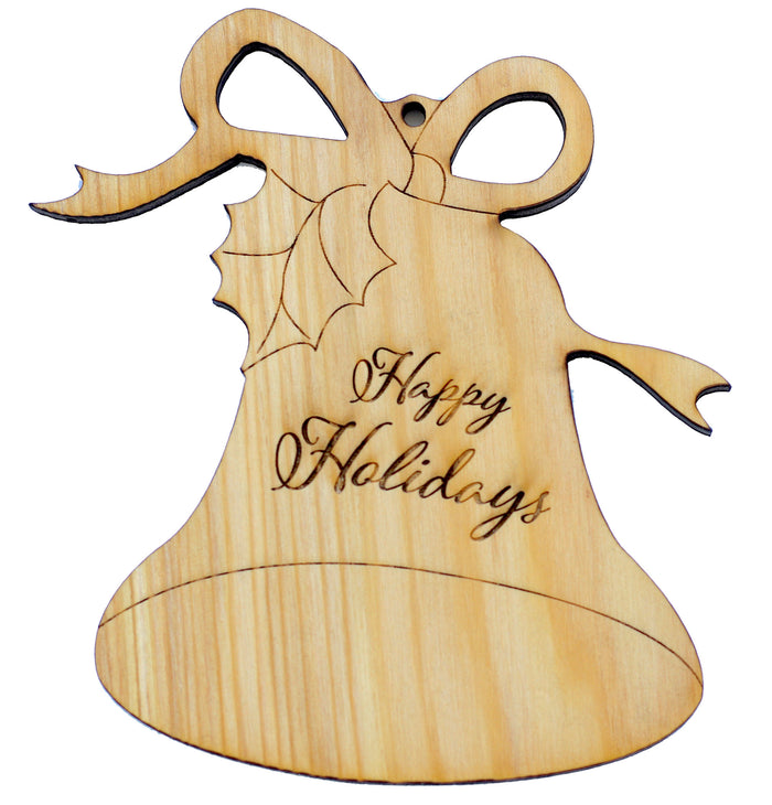 Wood Ornament - Happy Holidays - Harley London